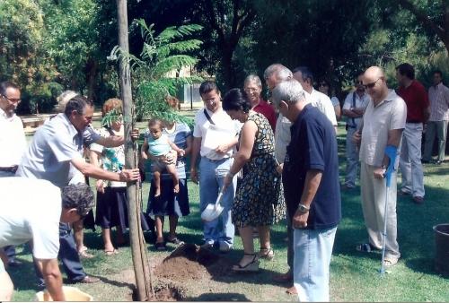 Plantación del primer timbú en julio de 2008