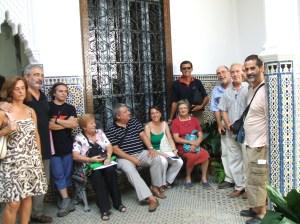 Los representantes de la Plataforma, en la Delegación de Parques y Jardines.
