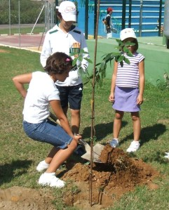 2-Plantando un madroño en el Club de Campo