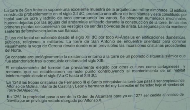 Historia de la Torre de San Antonio.