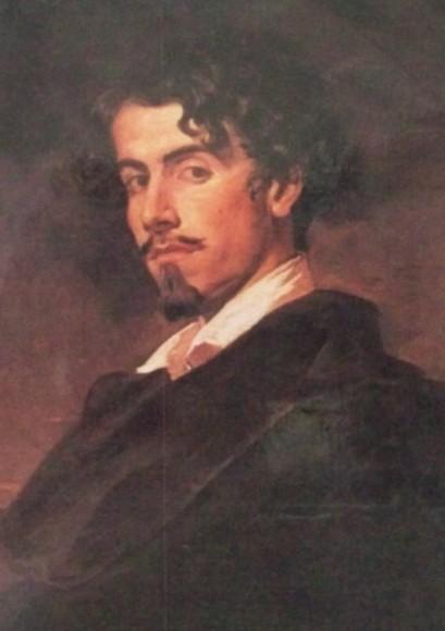 Retrato de Gustavo Adolfo Bécquer pintado por su hermano Valeriano.