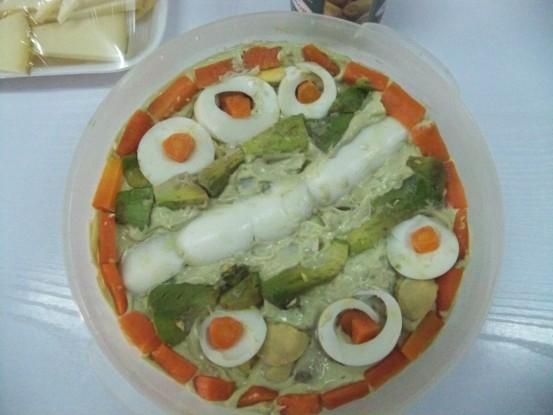 Ensaladilla de aguacate. Primer premio del XVI concurso de degustación de comida andaluza
