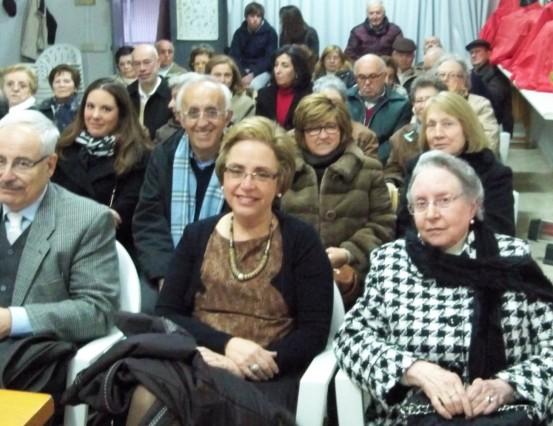 Patricia Giménez con su familia antes de comenzar el acto