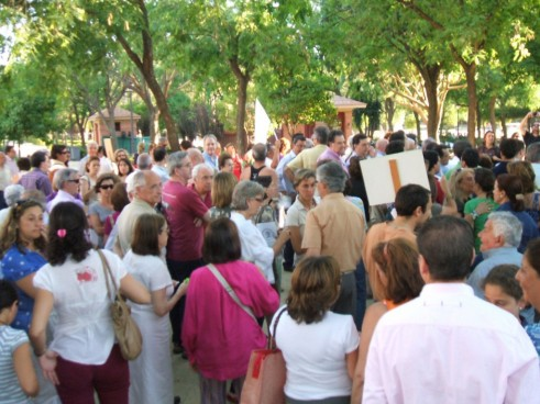 Aquellas concentraciones que la Plataforma convocó para evitar la mutilación de los Jardines del Prado