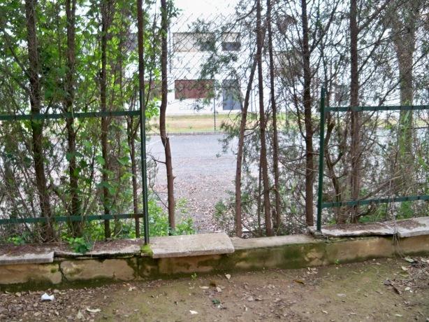 El cerramiento entre el Instituto Ramón Carande y el parque José Celestino Mutis arrancado y se puede entrar sin impedimento.