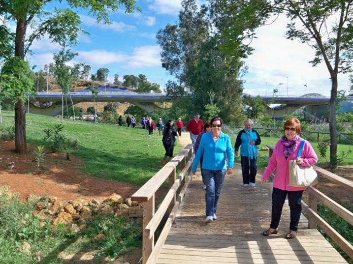 Se inicia la marcha hacia el Cerro del Calvario.