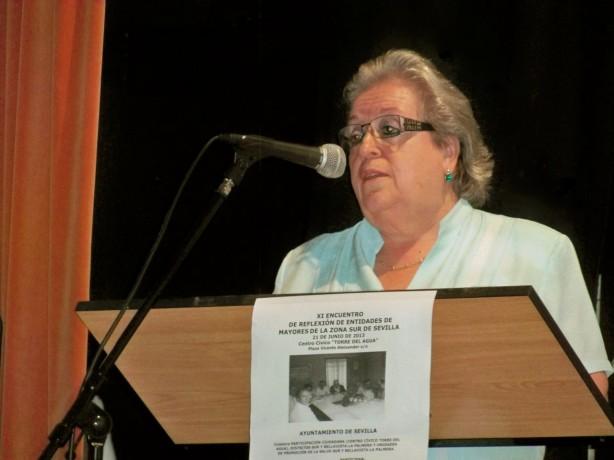 Doña Esperanza Vélez Lamadrid, directora del Centro Cívico Torre del Agua