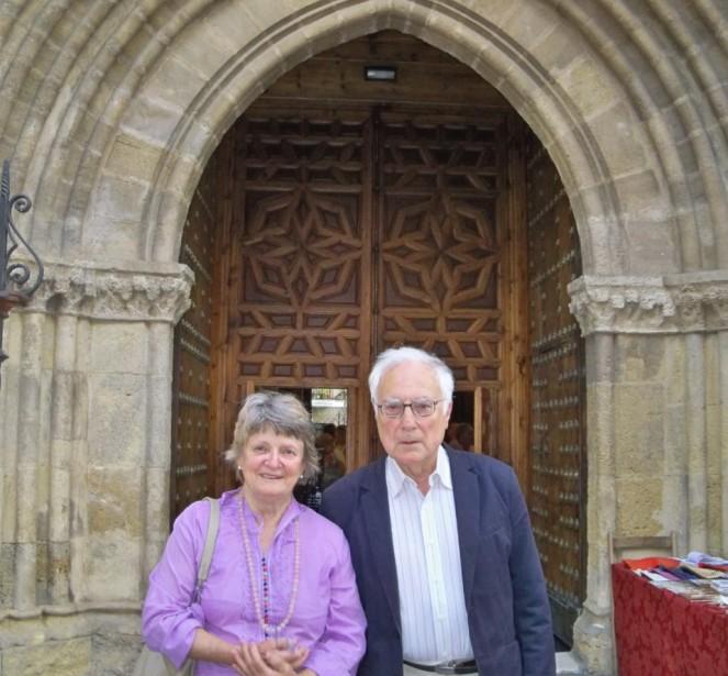 Aquilino Duque y su esposa Sally Crane