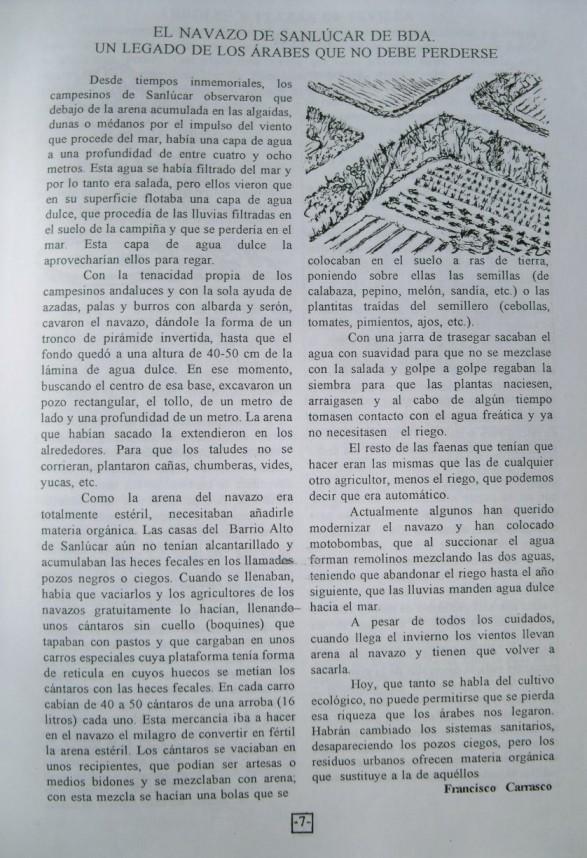 Artículo publicado en la Voz de los Jardines Nº 5 de noviembre de 1996