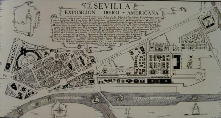 Plano de la Expo de 1929