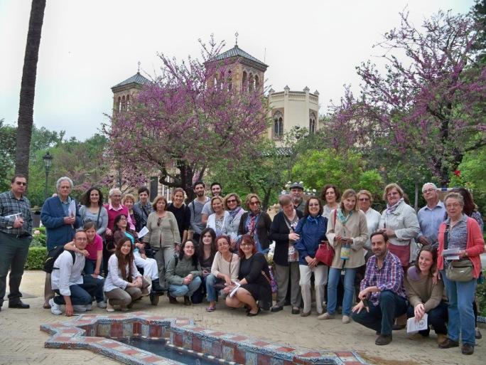 Algunos de los ciudadanos que realizaron el Itinerario botánico.