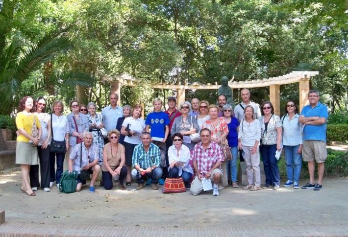 El lugar del encuentro para iniciar el segundo recorrido botánico por el Parque de María Luisa.