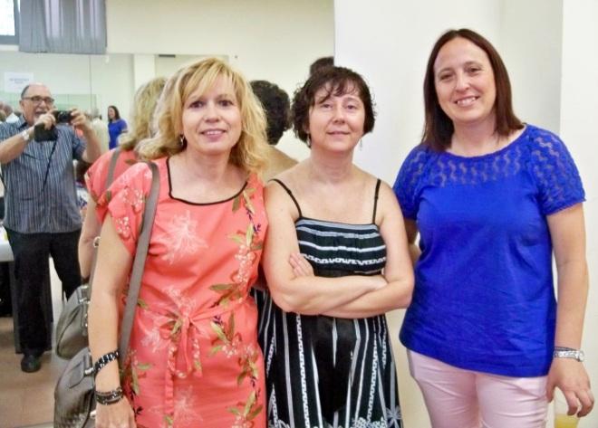 Marisa, Lole e Inma, algunas de las funcionarias que hicieron posible el XII Encuentro de Reflexión