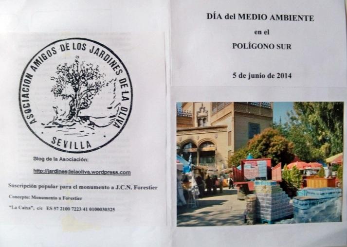 Díptico del Día del Medio Ambiente en el Polígono Sur elaborado por nuestra entidad.