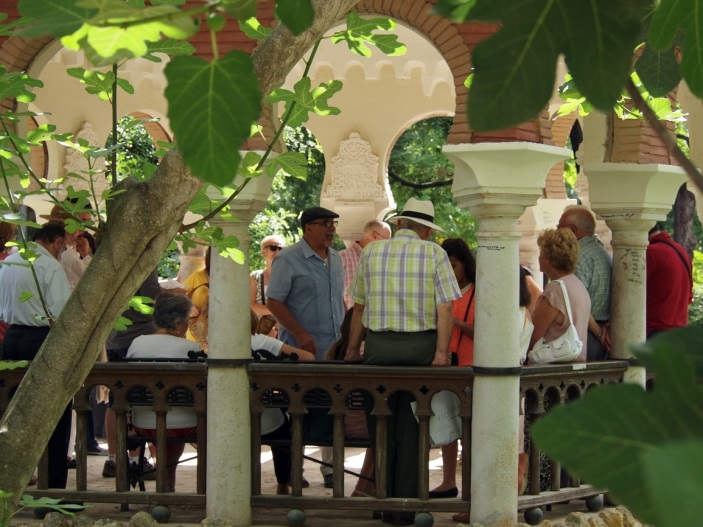 La cita era en el templete de la Isleta de los Patos, también conocido como Pabellón de Alfonso XII,