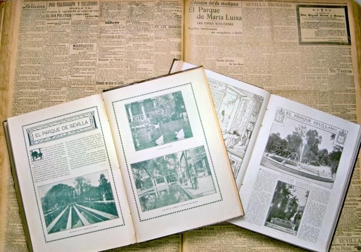 La prensa se hizo eco de la inauguración del Parque de María Luisa.