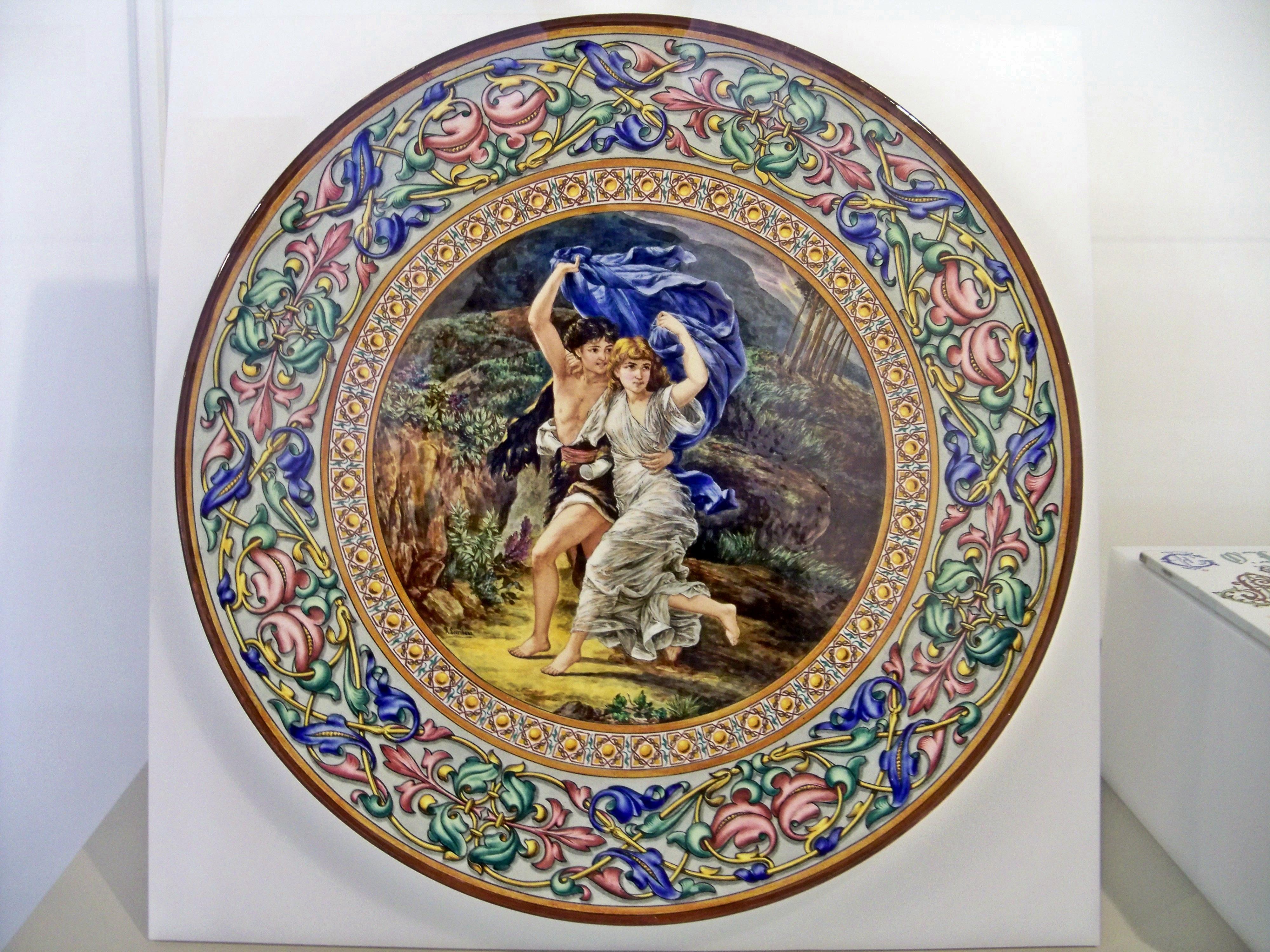 Cer mica asociaci n amigos de los jardines de la oliva for Platos de ceramica