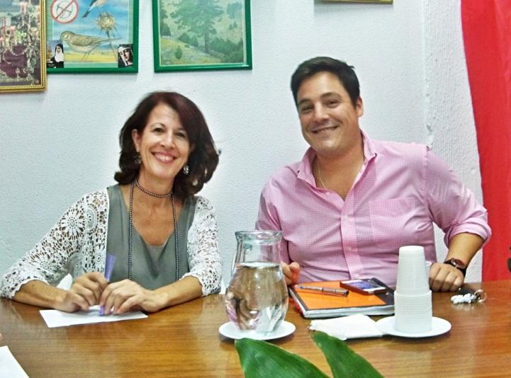 María del Mar y José Luis. copresidieron el VI Día del Polígono Sur en amigos de los Jardines