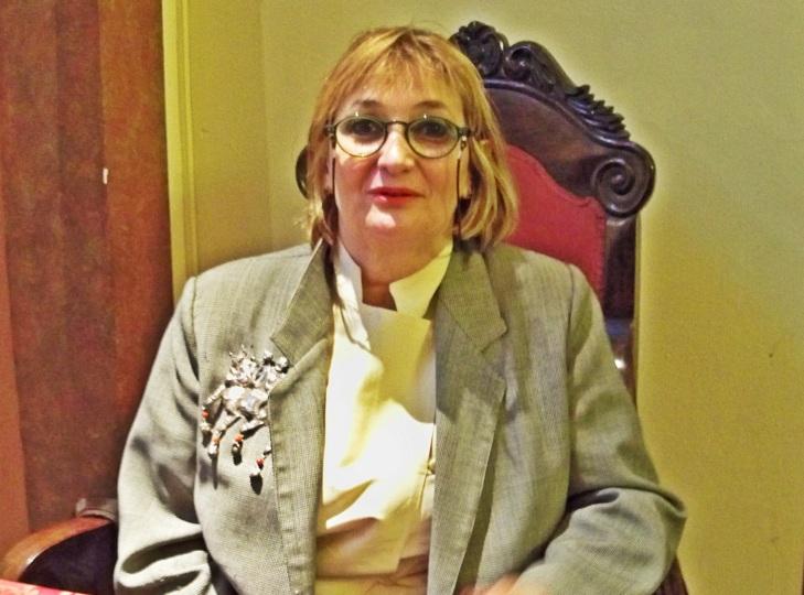 Bénédicte Leclerc, en la Real Academis de Bellas Artes Santa Isabel de Hungría.
