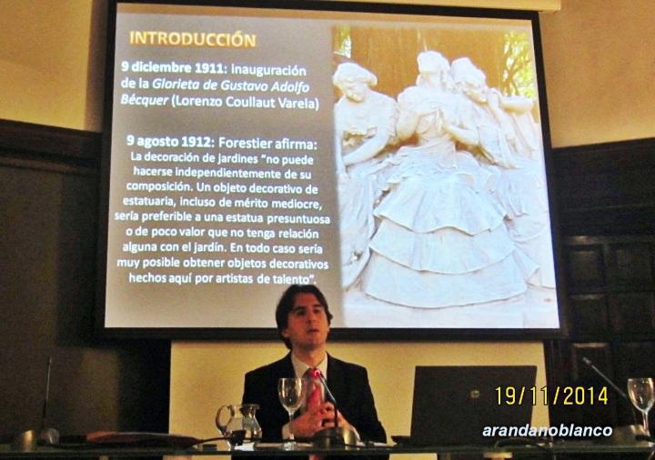El académico, profesor Jesús Rojas-Marcos González, recordando la figura de Forestier.