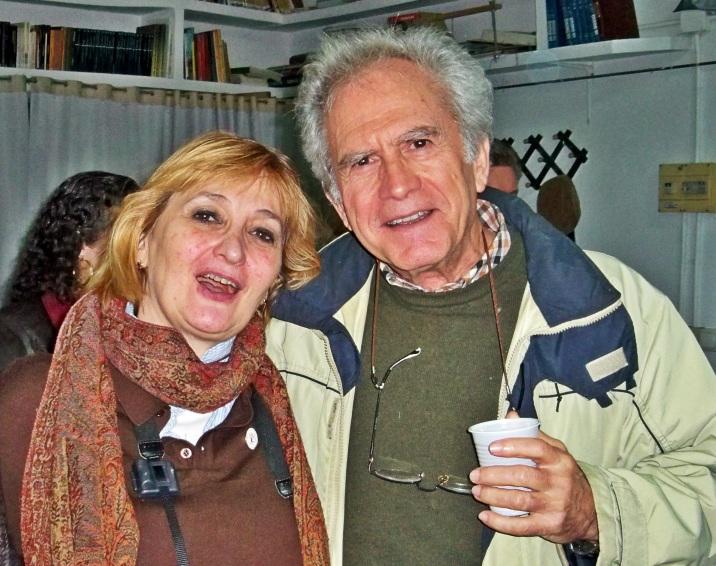 La señora Leclerc con el académico Fernando Fernádez Gómez.