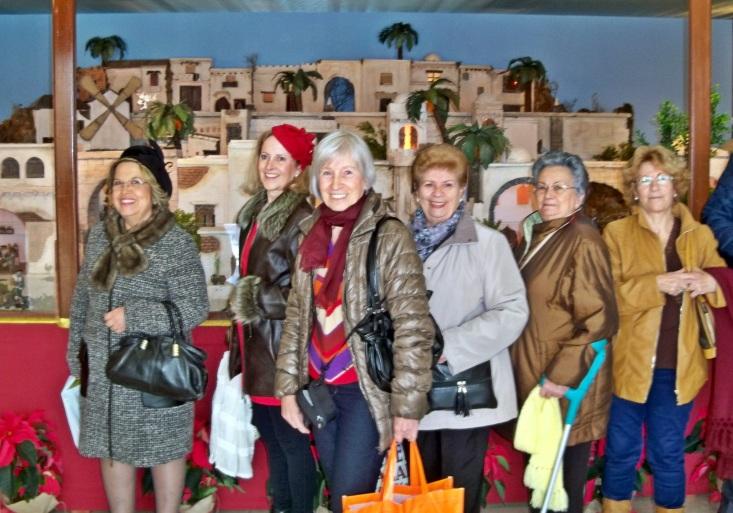 Visita al Belén del Ayuntamiento de Fuengirola.