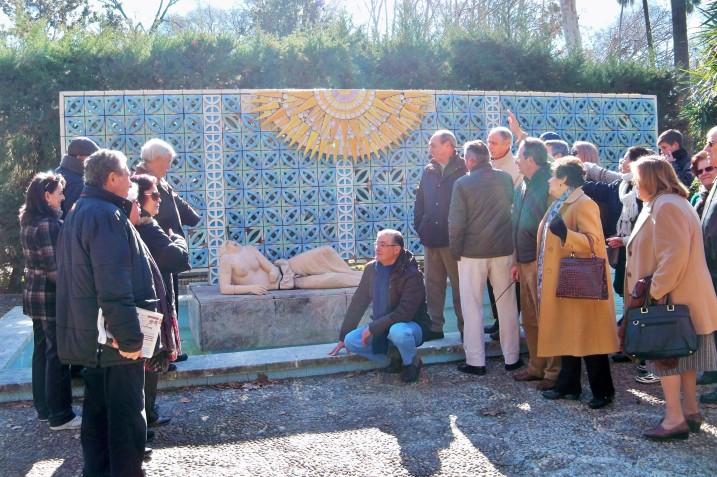 Glorieta de Luis Montoto, ¡Cuándo se acabará el vandalismo en el Parque de María Luisa!