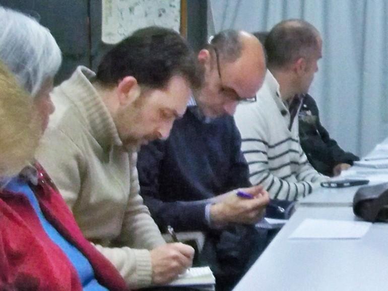 Jose luis Navas, Oscar Machuca y Arturo Sotelo,  los tres miembros de Ciudadanos (C's) que participaron en la reunión.