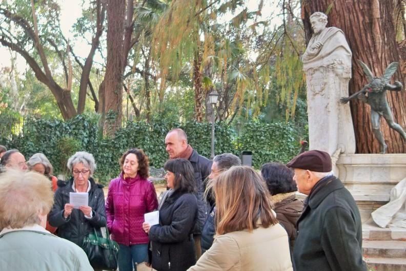 Los asistentes recitaron las rimas becquerianas en el aniversario de su nacimiento.