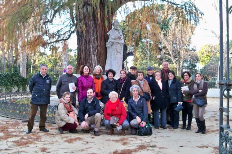 Algunos de los asistentes al homenaje a Bécquer