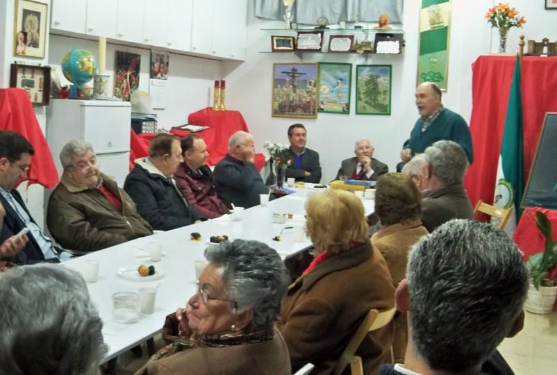 Jacinto Martínez, hablando de Manuel Benítez Carrasco.