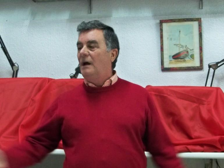 José Medina Castro, cantando una saeta por carcelera como prólogo del pregón que nos dará el día 20 de marzo en nuestra sede social