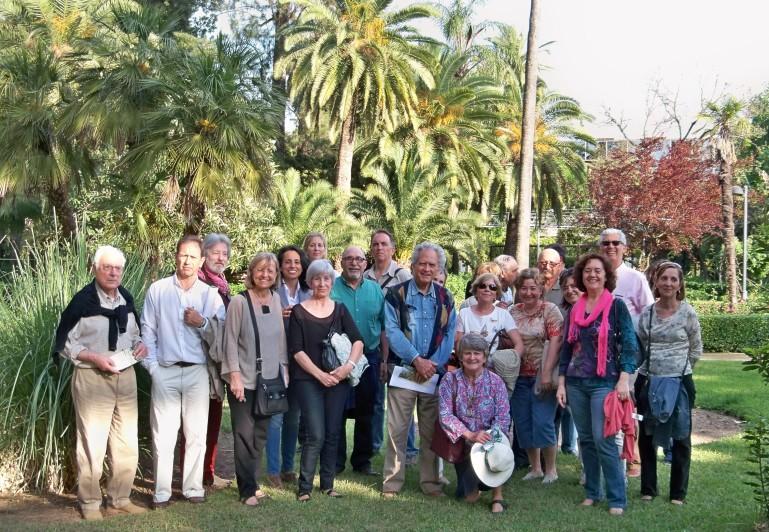 Un recuerdo de la visita a los jardines de la Casa Rosa.