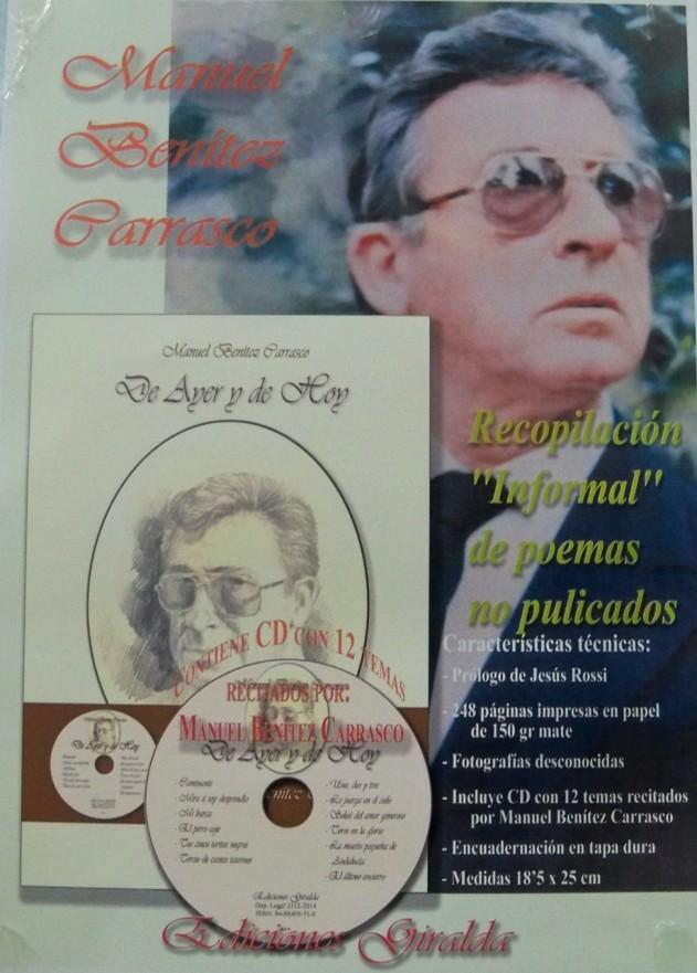 Cartel elaborado para la presentación del libro de Manuel Benítez Carrasco