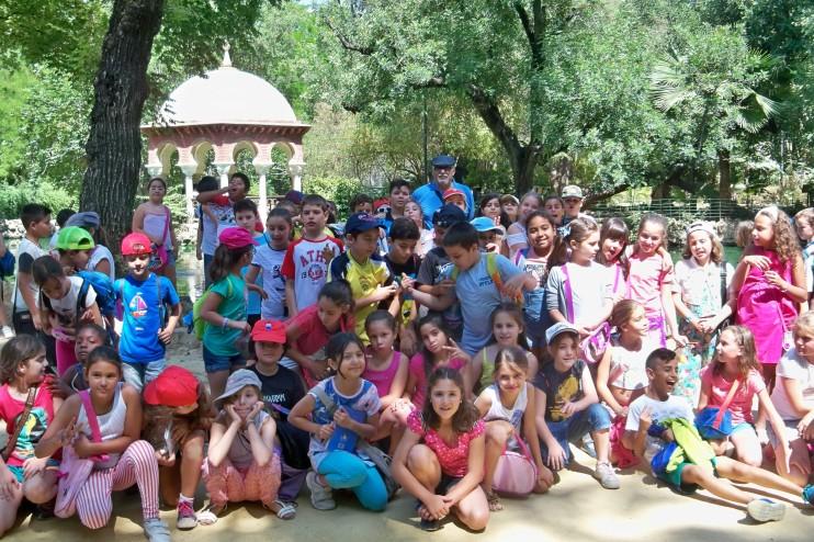 Un recuerdo de esta visita al Parque de María Luisa.