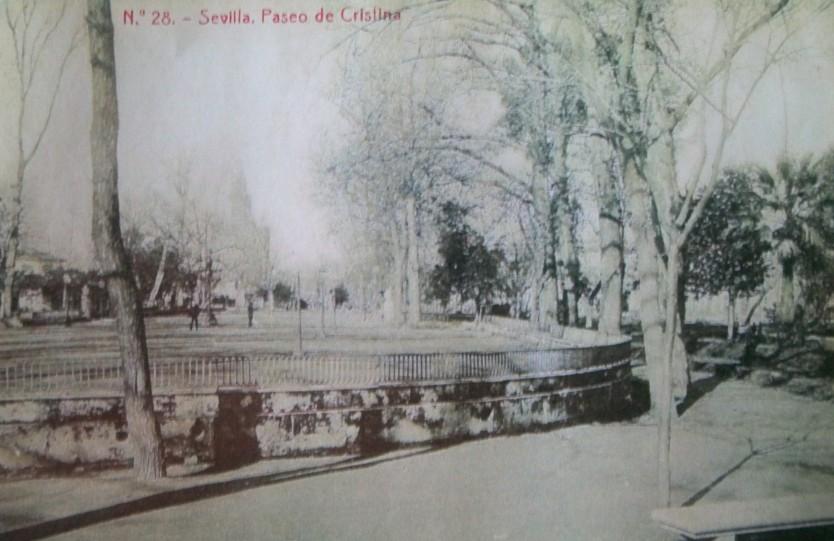 Fotografía del Salón de Cristina, año 1901