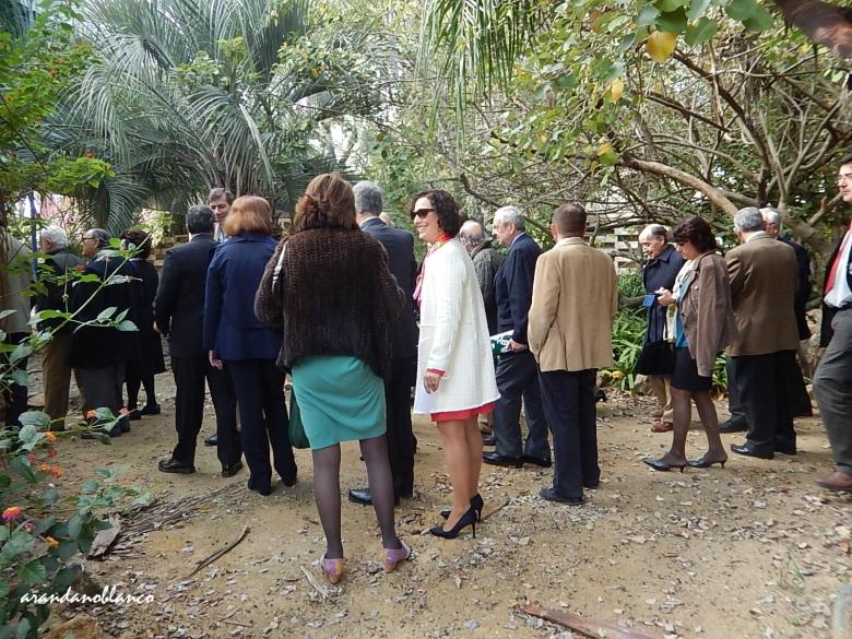 Los ingenieros agrónomos de Andalucía, recorriendo el Jardín Americano.