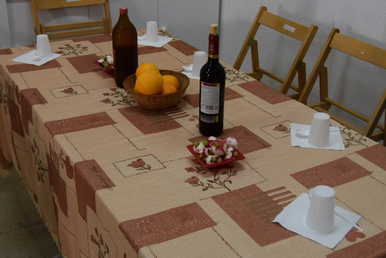 Las mesas preparadas