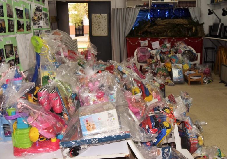 Los juguetes que Serán distriguidos entre los niños del Polígono Sur