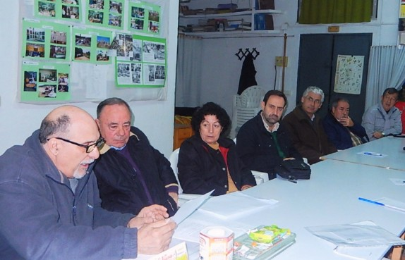 Reunión de la Plataforma Ciudadana por los Parques, los Jardines y el Paisaje de Sevilla.