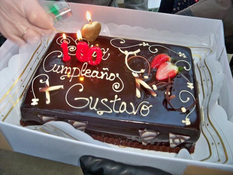 Tarta de cumpleaños.