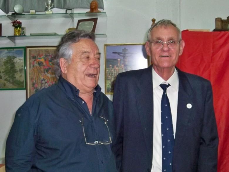 Alberto Garcia Camarasa con su amigo Pepe Elías. Dos catalanes que aportaron su talento a la jardinería sevillana.