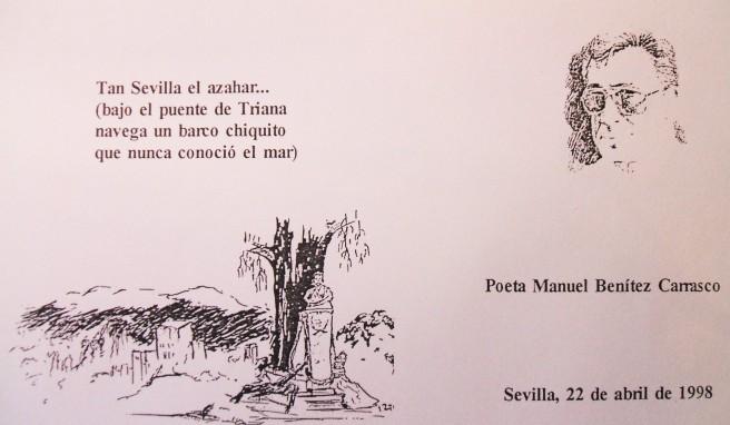 Boceto del azulejo conmemorativo de la inauguración de la Avenida Manuel Benítez Carrasco.