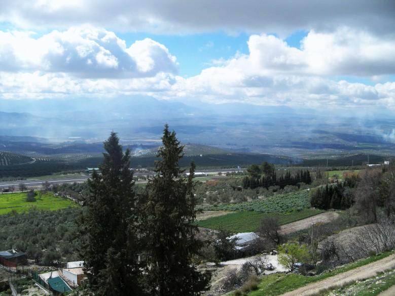 Mirador Antonio Machado, desde donde se puede contemplar un hermoso panorama del valle del Guadalquivir.