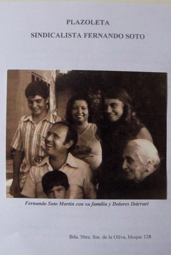Cuaderno dedicado a nuestro vecino Fernando Soto Martín