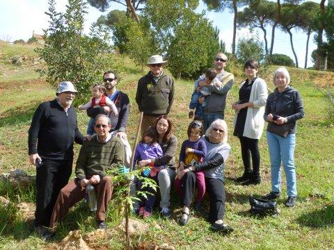 La familia García-Buero y los amigos que le acompañaron.