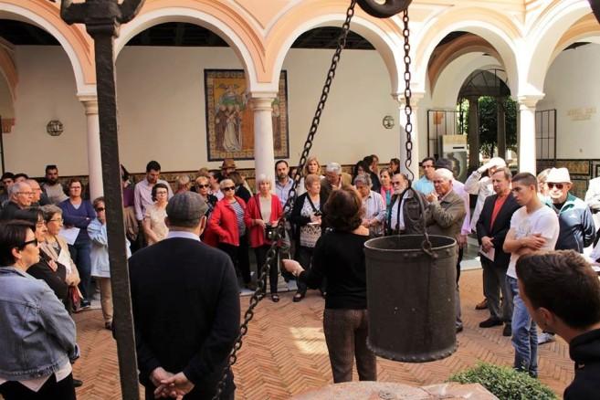 En el Patio del Aljibe del Museo de Bellas Artes de Sevilla.