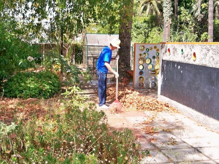 Ciudadanos vinculado a la antigua Escuela de Jardinería se ocupan de su limpieza y mantenimiento mientras logran su reapertua.