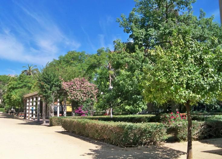 Jardines de García Lorca en Sevilla. Día del Medio Ambiente de 1916