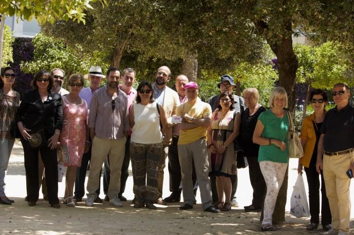 Algunos de los amigos que participaron en el Día del Medio Ambiente en los Jardines de García Lorca.